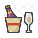 Champagne With Glasses Champagne Drink Icon