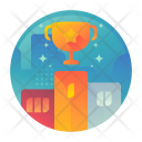 Champion Podium Trophy Icon
