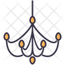 Home Light Chandelier Icon