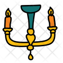 Chandelier Candle Stand Icon