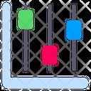 Chandlestick Chart Stats Icon