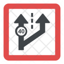 Change Direction Road Sign Icon