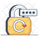 Change Password Digital Padlock Password Backup Icon