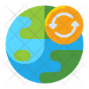 Changed World Global Warming Climate Change Icon