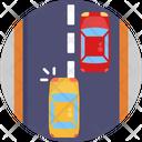 Changing Lane Road Cars Icon