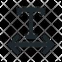 Character Horizontal Spacing Icon