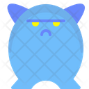 Character Serious Monster Funny Icon