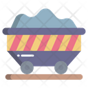 Coal Charcoal Cart Cart Icon