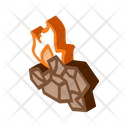 Charcoal Fire Mining Icon