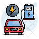 Bus Charging Station Electric Icon
