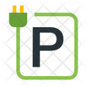 Charging Station Parking Icon