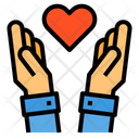 Charity Donate Hands Icon