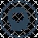 Charity Head Heart Icon