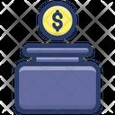 Charity Box Money Box Savings Icon