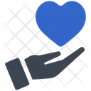 Donation Hand Heart Icon