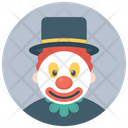 Charlie Clown Character Clown Circus Joker Icon