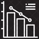 Point Bar Graph Down Icon