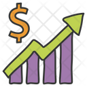 Finance Chart Bar Graph Statistical Presentation Icon