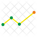 Linear Data Chart Icon