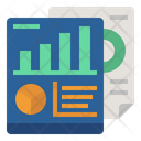 Chart Statistical Analysis Report Icon