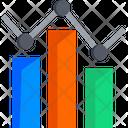 Line Chart Bar Chart Graph Icon
