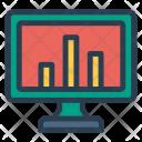 Chart Screen Analytics Icon