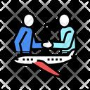 Charter Flight Color Icon
