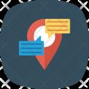 Chat Communication Location Icon