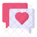 Chat Bubble Heart Icon