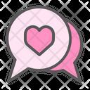 Chat Love Romantic Icon