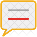 Chat Box Text Icon
