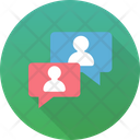 Chat Bubble Colleagues Icon