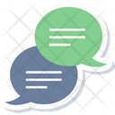 Chat Icon in Sticker Style