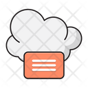 Chat Message Cloud Icon