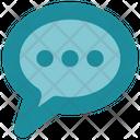 Social Media Chat Bubble Icon