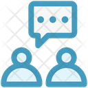 Persons Chat Talk Icon