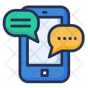 Chat Online Smartphone Icon