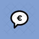 Chat Bubble Euro Icon