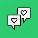 Chat Love Message Icon