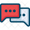 Chat Icon in Colored Outline Style