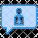 Conversation Chat Bubble Employye Icon