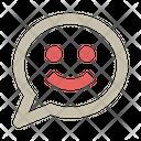 Chat Bubble Message Smile Icon