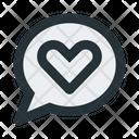 Chat Bubble Heart Love Icon