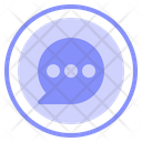 Chat Bubble Conversation Icon