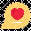 Chat Bubble Speech Bubble Love Icon