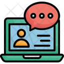Chat Bubble Chatting Consultant Icon
