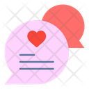 Chat Bubble Text Heart Icon