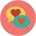 Chat Bubbles Love Icon