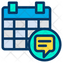 Chat Calendar Icon