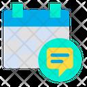 Chat Calendar Icon